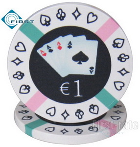 4 Aces Ceramic Poker Chips
