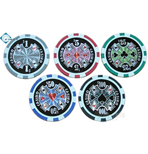 4 Aces Roller Casino Poker Chips