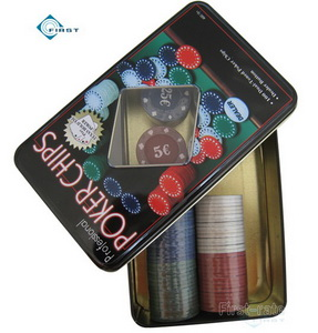 100 Chips Poker Set with Tin Case