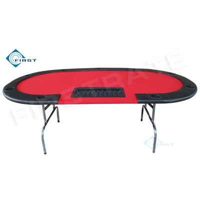 10 Persons Casino Poker Table Red
