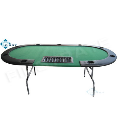 10 Persons Casino Poker Table Green