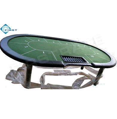 10 Player Poker Table with Tray