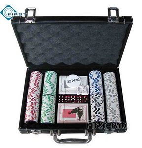 200 Poker Chip Set with PVC Leather Case