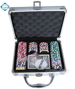 100 Poker Chips Set in Alminum Case
