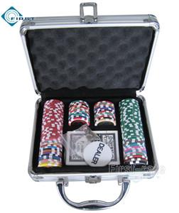 100 Poker Chips Set in Alminum Case