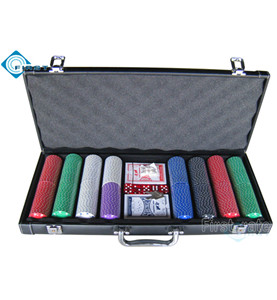 400 Poker Chips Set in Leather Case