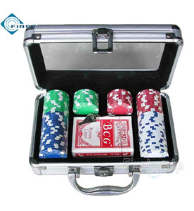 80 Poker Chips Set with Clear Top for Gift