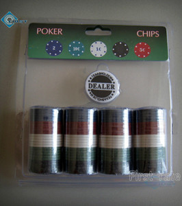 100 Poker Chips Set with Plastic Package
