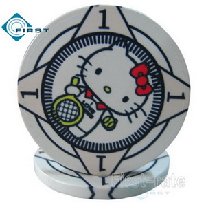 Custom Hello Kitty Style Ceramic Poker Chips