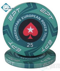 Ceramic EPT Chips European Poker Tour