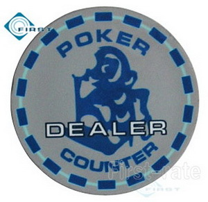 Ceramic Poker Dealer Buttons Mokey Style