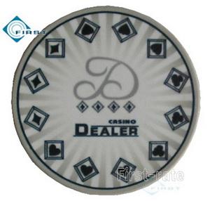 Ceramic Poker Dealer Button