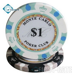 3-Tone Monte Carlo Clay Poker Chips