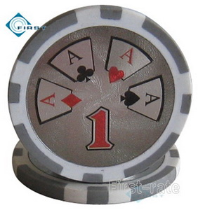 High Roller Clay Poker Chips
