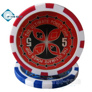 Laser Sticker Ultimate Clay Poker Chips