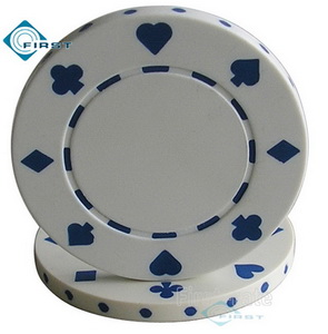 Suited Poker Chips White