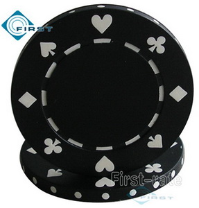 Suited Poker Chips Black