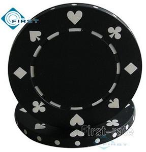 Suited Poker Chips Black