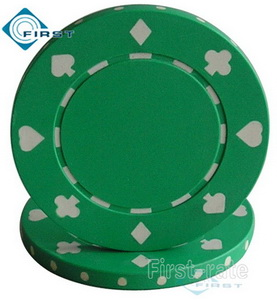 Suited Poker Chips Green