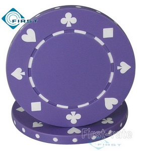 Suited Poker Chips Purple
