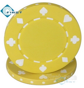 Suited Poker Chips Yellow