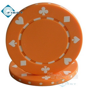Suited Poker Chips Orange