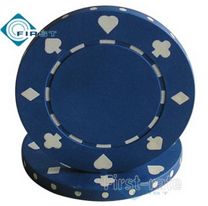 Suited Poker Chips Dark Blue