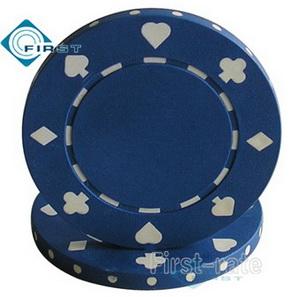 Suited Poker Chips Dark Blue