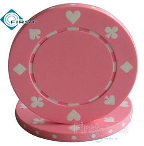 Suited Poker Chips Pink