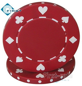 Suited Poker Chips Red
