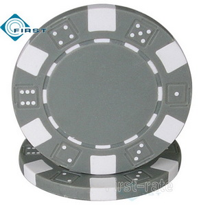 Dice Poker Chips Grey