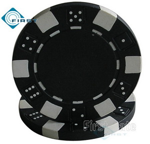 Dice Poker Chips Black