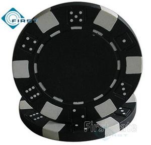 Dice Poker Chips Black