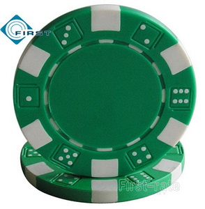 Dice Poker Chips Green