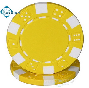 Dice Poker Chips Yellow