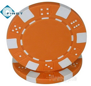Dice Poker Chips Orange