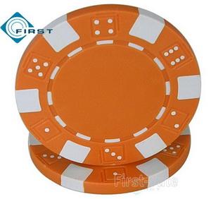 Dice Poker Chips Orange