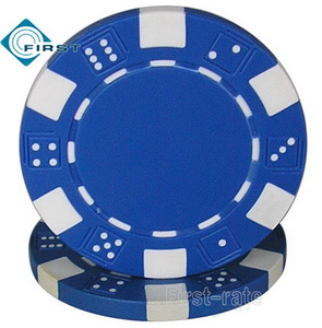 Dice Poker Chips Dark Blue