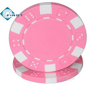 Dice Poker Chips Pink