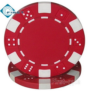 Dice Poker Chips Red