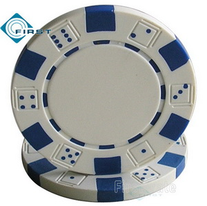 Dice Poker Chips White