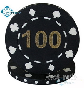 Hot Stamped Suited Poker Chips