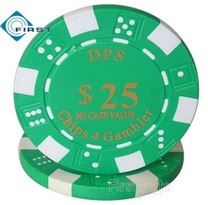 Hot Stamped Dice Poker Chips