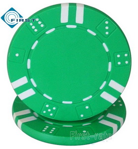 Double Dice Striped Poker Chips