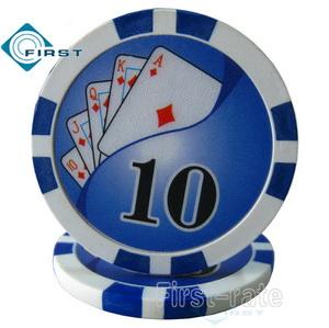 Royal Flush Yin Yang Poker Chips