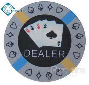 Aces Ceramic Dealer Buttons