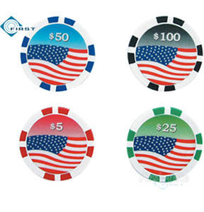 American Flag Poker Chips