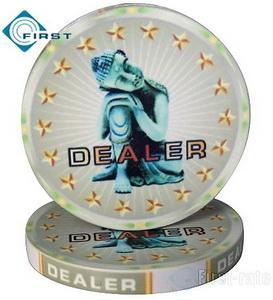Ceramic Dealer Button Buddha Craft