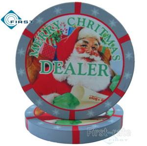 Ceramic Dealer Button Christmas Decoration