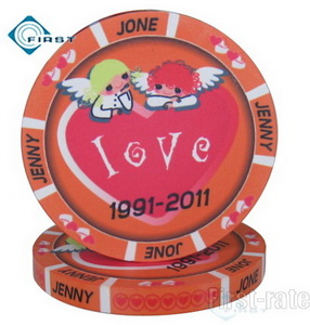 Ceramic Dealer Button Wedding Gifts